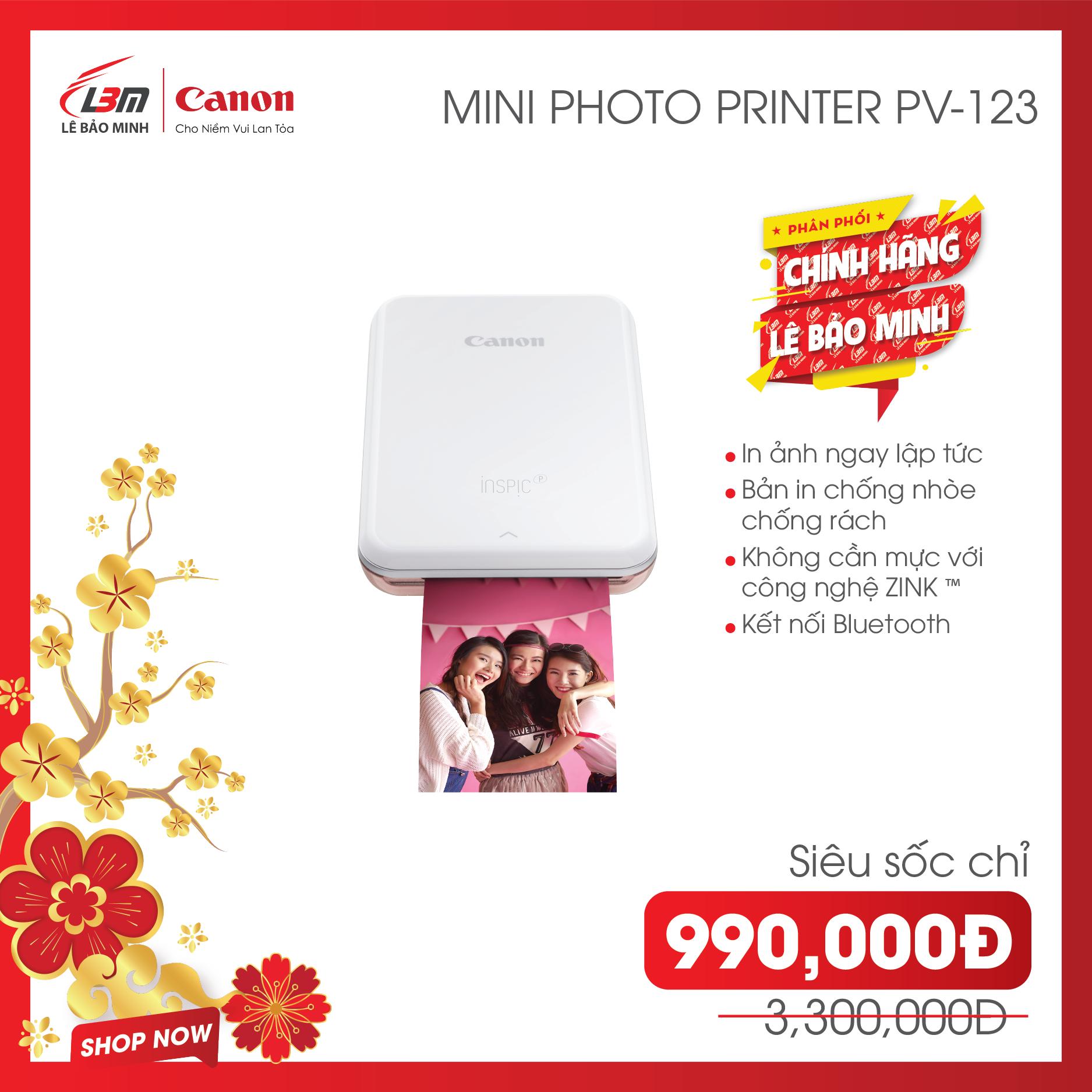 Máy in ảnh mini Canon PV123