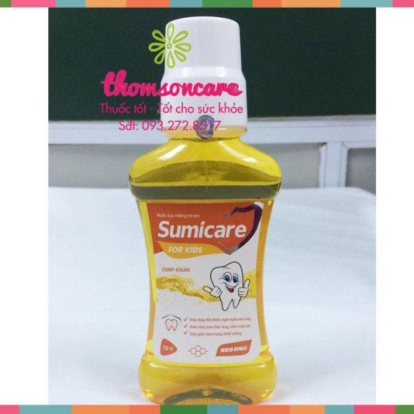 Nước súc miệng Sumicare vàng - chai 500ml - cho trẻ em, sản phẩm có nguồn gốc xuất xứ rõ ràng, sử dụng dễ dàng, cam kết hàng nhận được giống với mô tả giá rẻ