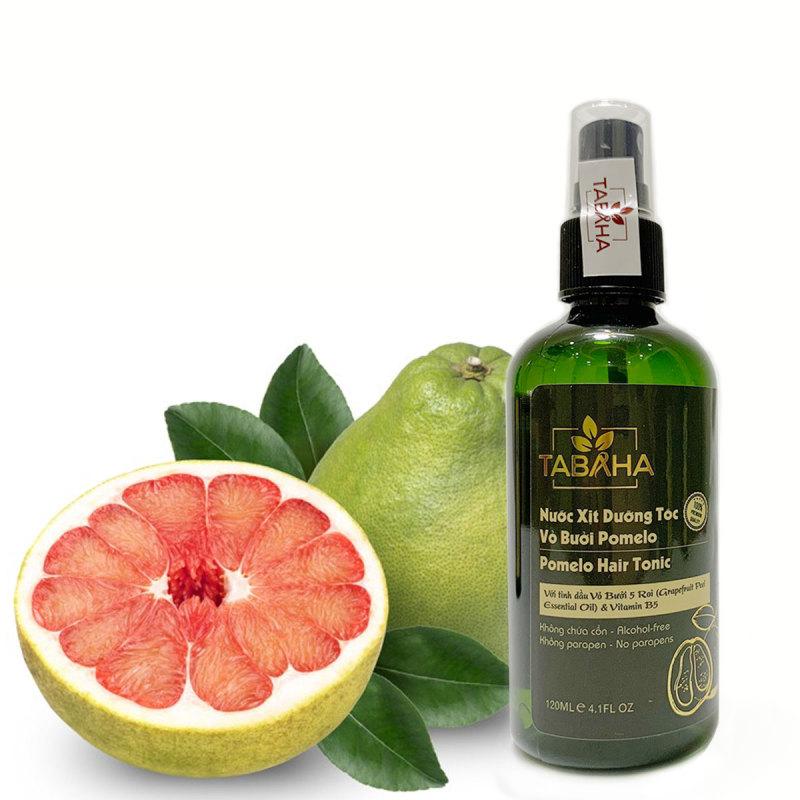 Xịt dưỡng tóc tinh dầu bưởi Tabaha từ bưởi 5 Roi 120ml hàng chính hãng kích thích mọc tóc con, ngăn rụng tóc hói tóc