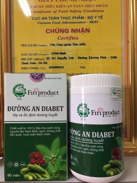 Đường An hổ trợ điều trị bệnh tiểu đường, ổn định đường huyết, đào thải độc tố