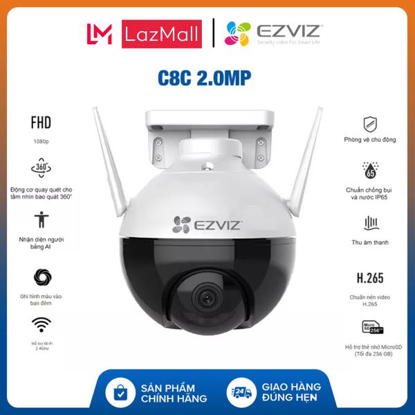[Voucher 8% - Tối đa 800k][CHÍNH HÃNG] Camera IP WIFI EZVIZ C8C 1080P Xoay Thông Minh Chuẩn Nén H.265 - EZVIZ Chính Hãng