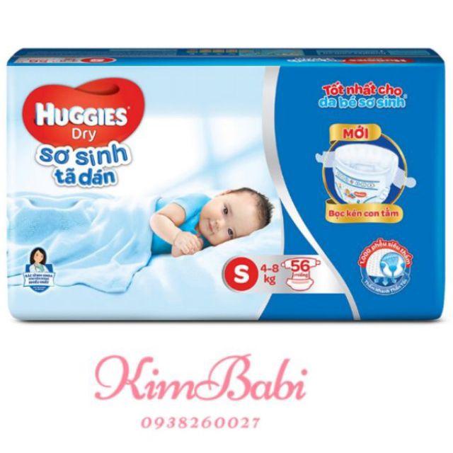 Tã Dán Sơ Sinh Huggies Dry S56 (Dành Cho Bé 4-8kg) Đang Khuyến Mãi