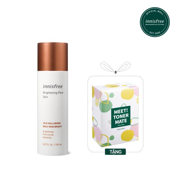 Nước cân bằng dưỡng sáng da 3 trong 1 innisfree Brightening Pore Skin 150ml nhập khẩu