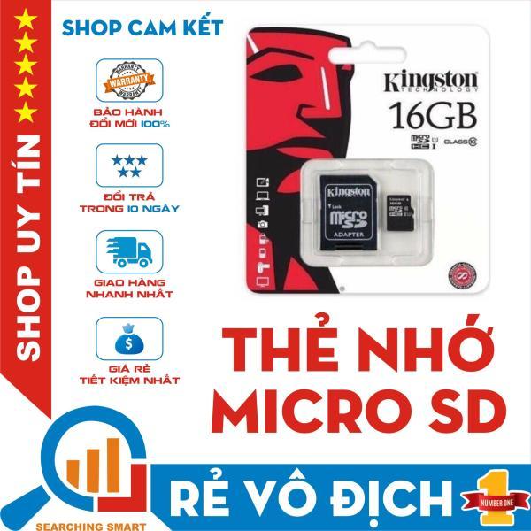 Thẻ nhớ Micro SDHC Kingston 16GB Class 10 - Bảo hành 5 năm