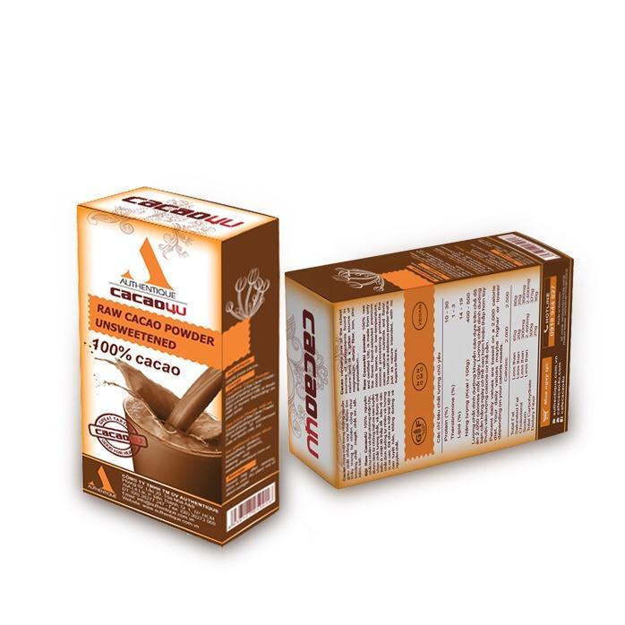 Bột Ca cao nguyên chất tốt cho tim mạch (Loại ngon nhất) - Hộp 120g - Cacao4U