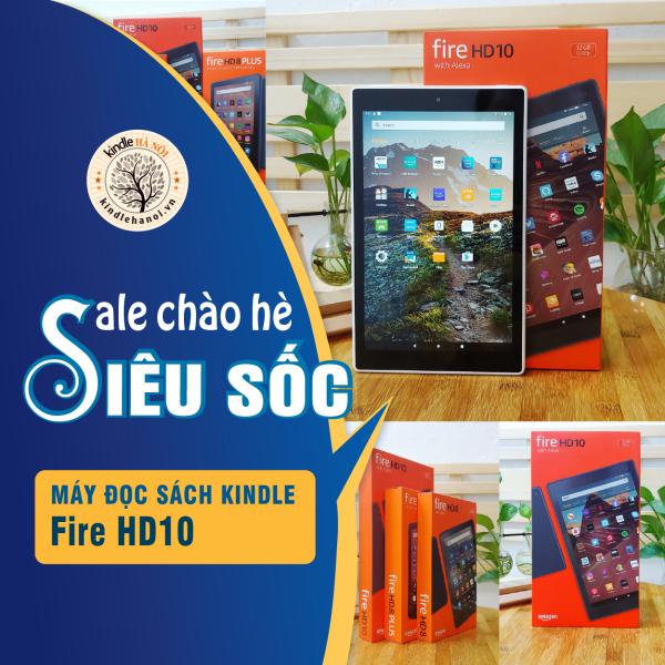 Máy tính bảng kindle Fire HD 10 2019 9th (Fire HD10) màn hình 10'' 1080P Storage 32GB CPU Octa-core 2.0GHz Ram 2GB USB-C
