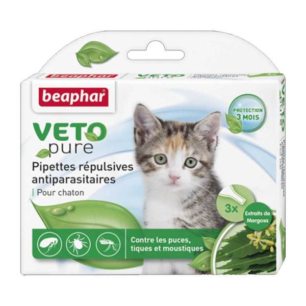 Thuốc Nhỏ Gáy Cho Mèo Con Ngăn Ngừa Ve Beaphar Bio Green