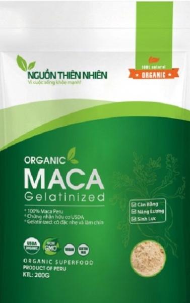 Bột Organic Gelatinized Maca Nguồn Thiên Nhiên 200g nhập khẩu