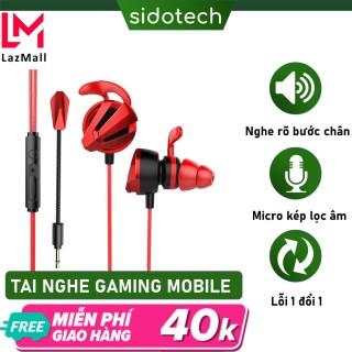 Tai nghe gaming có mic Sidotech G4m pro cho điện thoại dùng cho game thủ chơi game mobile pc laptop thuộc dòng tai nghe gaming có dây chuyên dụng cho game pubg moblie liên quân lmht tốc chiến thumbnail