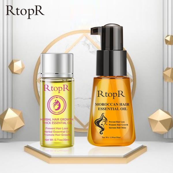 RtopR Bộ người trồng tóc Dầu dưỡng tóc có tác dụng ngăn ngừa rụng và kích thích mọc tóc + Tinh chất chống rụng tóc và kích thích mọc tóc