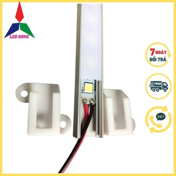 Thanh nhôm led định hình Led Song dùng cho led dây dán, led thanh 12v trang trí nội thất (bộ 5 thanh 5m)