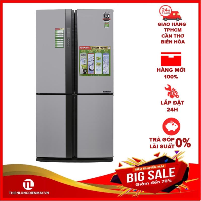 TRẢ GÓP 0% - Tủ lạnh Sharp Inverter 605 lít SJ-FX680V-ST