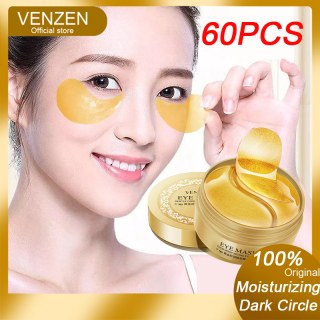 VENZEN Mặt nạ mắt Collagen vàng 24K trị bọng mắt quầng thâm Đường nét nếp nhăn Chân quạ 60 chiếc thumbnail