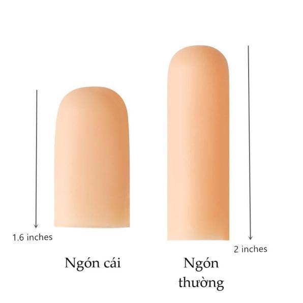 Miếng Lót Silicon ngón tay Envysleep (4 ngón thường) bảo vệ ngón tay, tránh vi khuẩn xâm nhập, làm mềm da, giữ ẩm, 1 bộ 2 cái giá rẻ