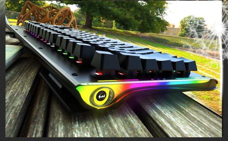 Bàn phím cơ Full size RGB quang học BATKNIGHT BK668 cho phòng nét