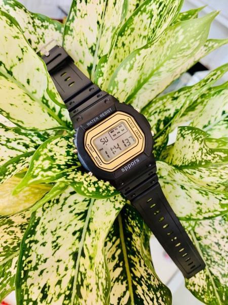 Nơi bán Đồng hồ điện tử nam nữ Sppors Đen mặt vàng cực đẹp MS910 BL79