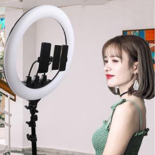 [CHÍNH HÃNG] Đèn Livestream 34cm, 3 Kẹp Điện Thoại ,Điều Chỉnh Bằng 2 Núm Vặn, Bộ Đèn Livestream Cao Cấp Chuyên Dụng Trang Điểm Make Up, Chụp Ảnh Studio, Phun Săm, Điều Chỉnh Mọi Góc Độ, Siêu Bền, Siêu Đẹp , Siêu Sáng thumbnail