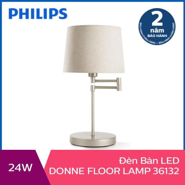 [Nhập ELMAY21 giảm 10% tối đa 200k đơn từ 99k]Đèn trang trí để bàn Philips Donne 36132 tặng 01 bóng đèn Philips LED Scene Switch 2 cấp độ ánh sáng vàng