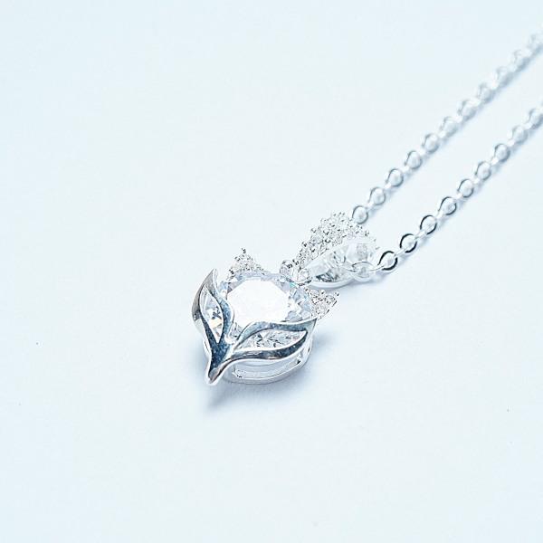 QMJ Dây chuyền bạc 925 cao cấp Hồ ly đá tinh tế thiết kế độc lạ, thích hợp với cô nàng thích sự độc và lạ trang sức thời trang nữ đẹp - QKL1360