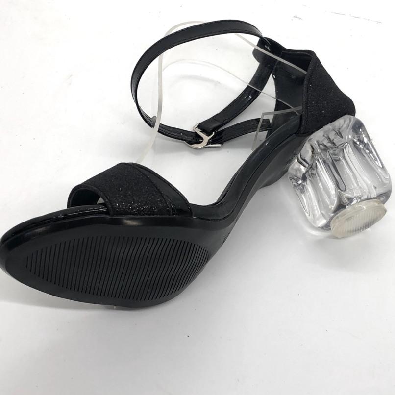 Giày SD kim tuyến gót trong 7p giá rẻ