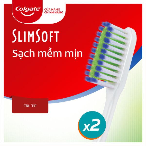 Bộ đôi bàn chải đánh răng Colgate Tri tip sạch mềm mịn - Giới hạn 1 sản phẩm/khách hàng giá rẻ