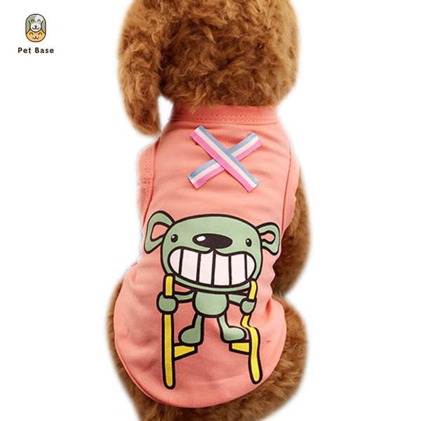 Spring Summer Dog Vest Cotton Cartoon Printing Puppy Tee Shirts Pet Clothes XS-2XL