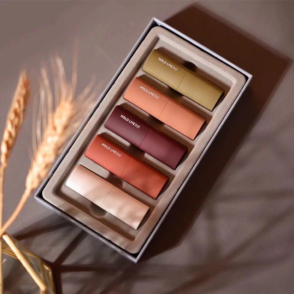 Set 5 Son Hold Live Sáp ( thỏi ) Special Lip Jewelry Box MOUSSE VELVET LIPSTICK holdlive nội địa trung No.HL252 tốt nhất