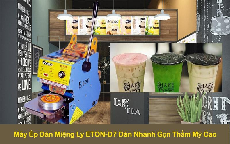 Máy Ép Ly Trà Sữa ETON D7 – Máy Ép Ly Nhựa – Máy Dán Nắp Ly Nhựa – Máy Dán Miệng Ly – Máy Dập Nắp Cốc Trà Sữa – Máy Dán Miệng Ly Trà Sữa