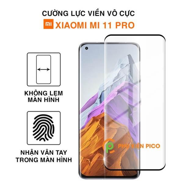 Kính cường lực Xiaomi Mi 11 Pro viền vô cực full keo full màn nhận vân tay màn hình - Dán màn hình Xiaomi Mi 11 Pro