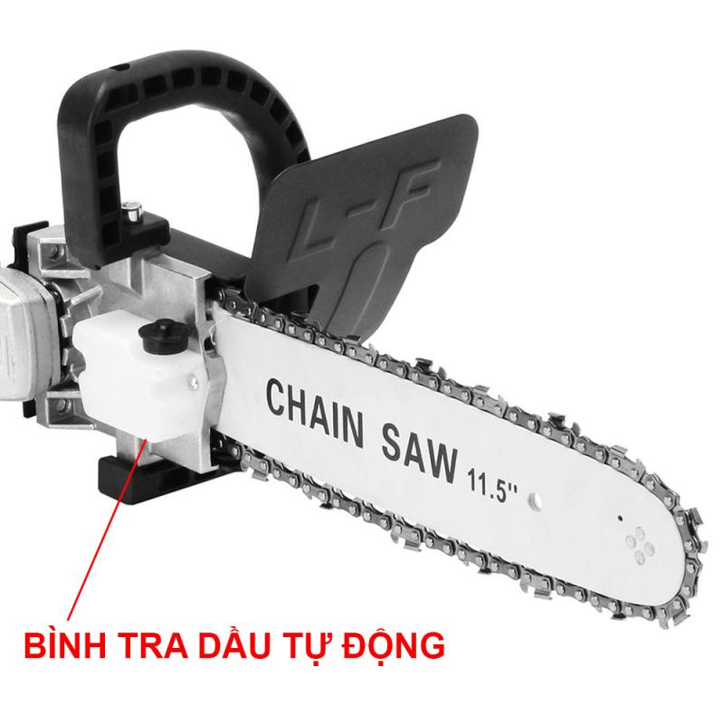 Lưỡi cưa xích CHAINSAW - Biến máy mài thành máy cưa - Có bình tra dầu tự động - Cưa cây - Cắt gỗ - Cắt cành