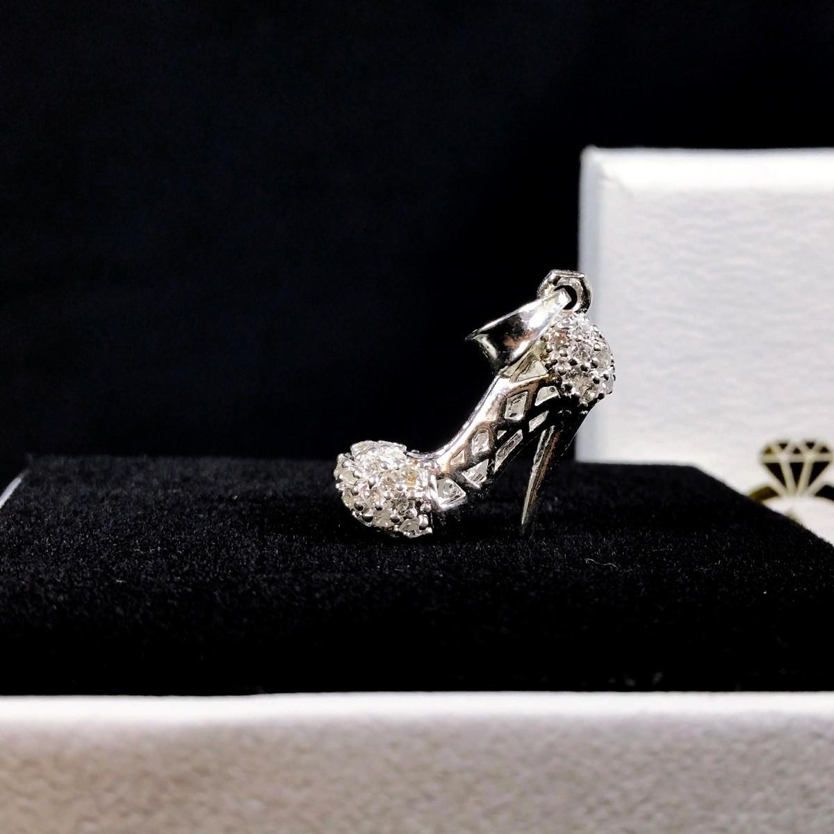 Dây chuyền bạc - Dây chuyền nữ hình chiếc giày Cinderella [TS-DC-A8]