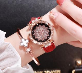 Đồng hồ nữ dây da chính hiệu CVTR, tặng hộp và pin dự phòng, bảo hành 2 năm thumbnail