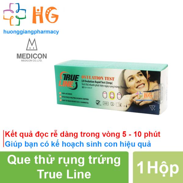 Que thử rụng trứng True Line - Kết quả đọc rễ dàng trong vòng 5 - 10 phút, Gia tăng khả năng thụ thai (Hộp 7 Test)