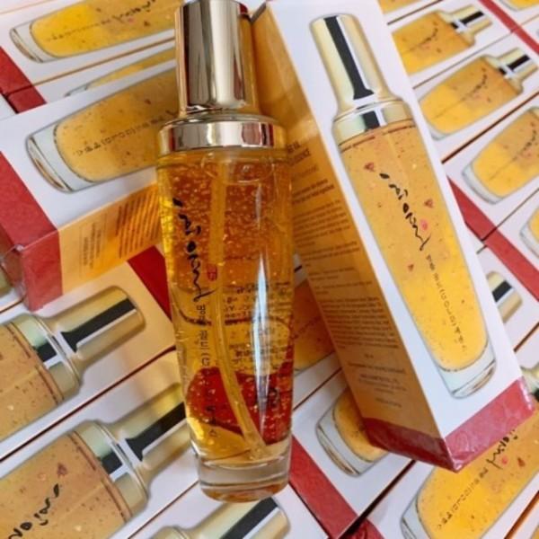 Tinh chất vàng 24k Lebelage Heeyul premium gold essence Hàn Quốc cam kết hàng đúng mô tả sản xuất theo công nghệ hiện đại an toàn cho người sử dụng