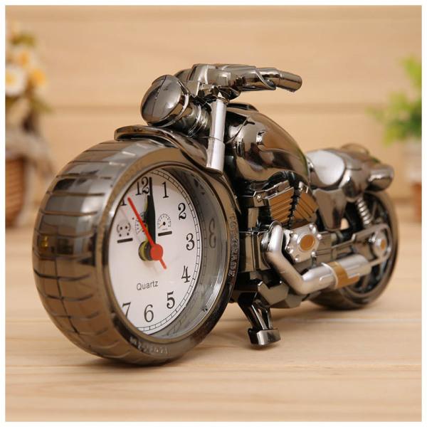 Nơi bán Đồng hồ báo thức hình xe máy, đồng hồ để bàn trang trí sang trọng độc đáo