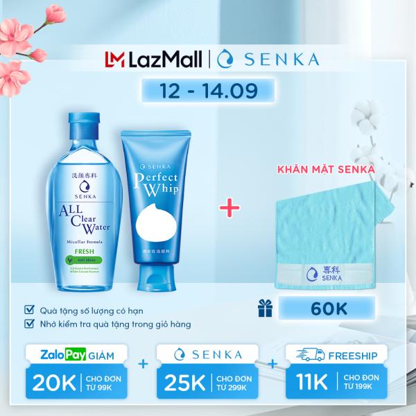 Bộ sản phẩm Senka làm sạch da dành cho da dầu cao cấp