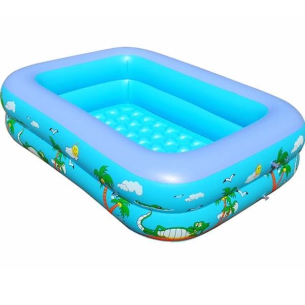 Bể bơi phao 2 tầng cho bé [Size 160/150/130/120 cm] - Tặng keo vá bể, Be Tam Be Boi - Bể Bơi Phao Trong Nhà Kích Thước 115X85X35 Cm