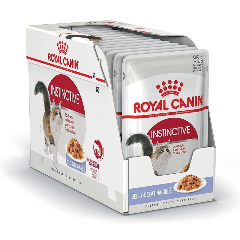 ROYAL CANIN INSTINCTIVE WET – THỨC ĂN MÈO TRƯỞNG THÀNH TRÊN 12 THÁNG TUỔI(GRAVY) 12 x 85G
