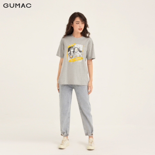 [GIẢM 25K ĐH 250K] Áo thun GUMAC thiết kế thun in cô gái ATB153 thumbnail