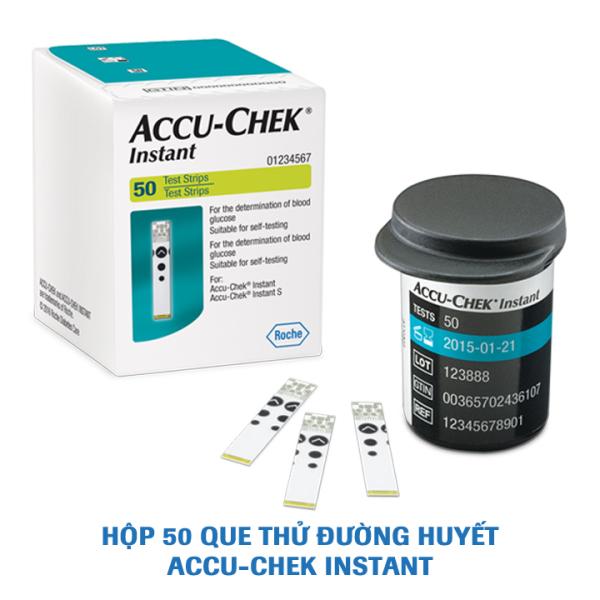 Que thử đường huyết  Accu-Chek Instant. Hộp 50 que bán chạy