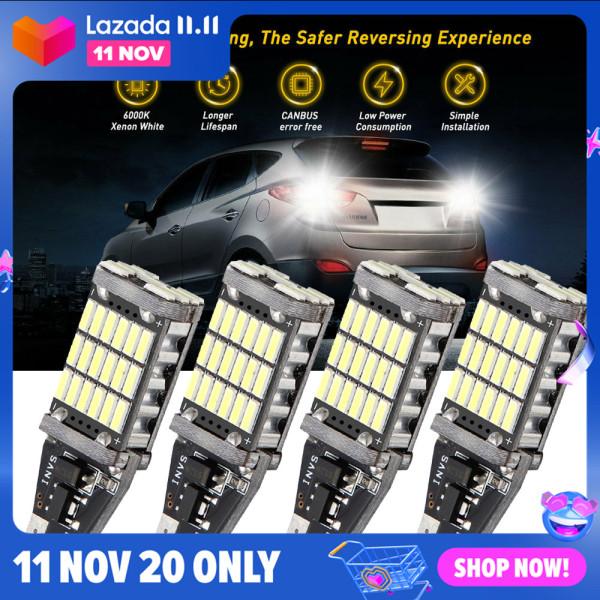 Nemoto 4 chiếc T15 W16W LED 912 siêu sáng 45 SMD 4014 LED CANBUS dừng dự phòng xe hơi đèn phanh Trắng 12V 6000K 【cod】 【trong kho