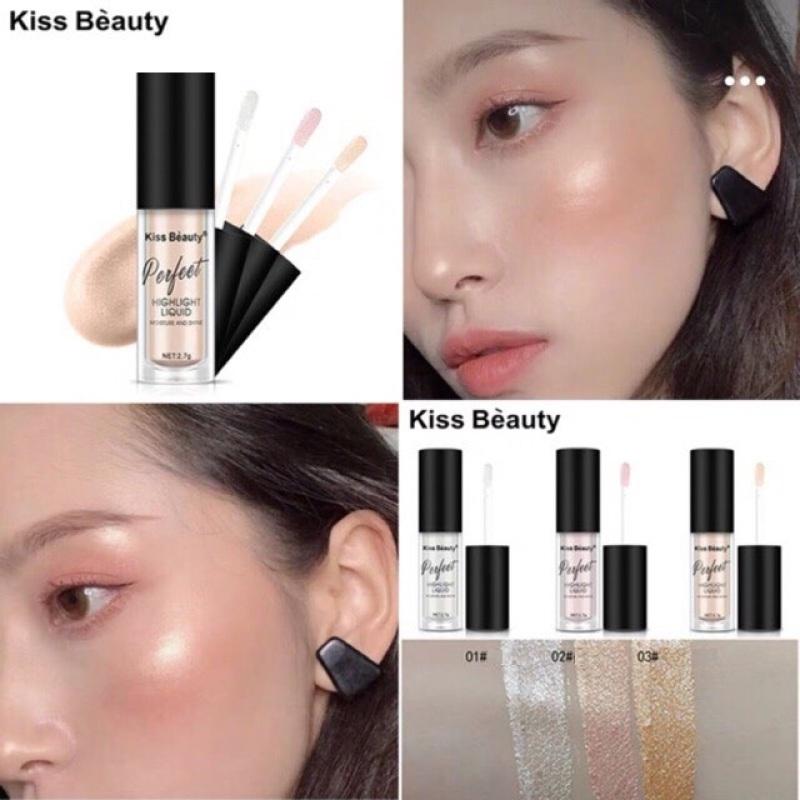 Cây Nhũ Mắt + Má Kiss Beauty Perfect Moisture And Shine