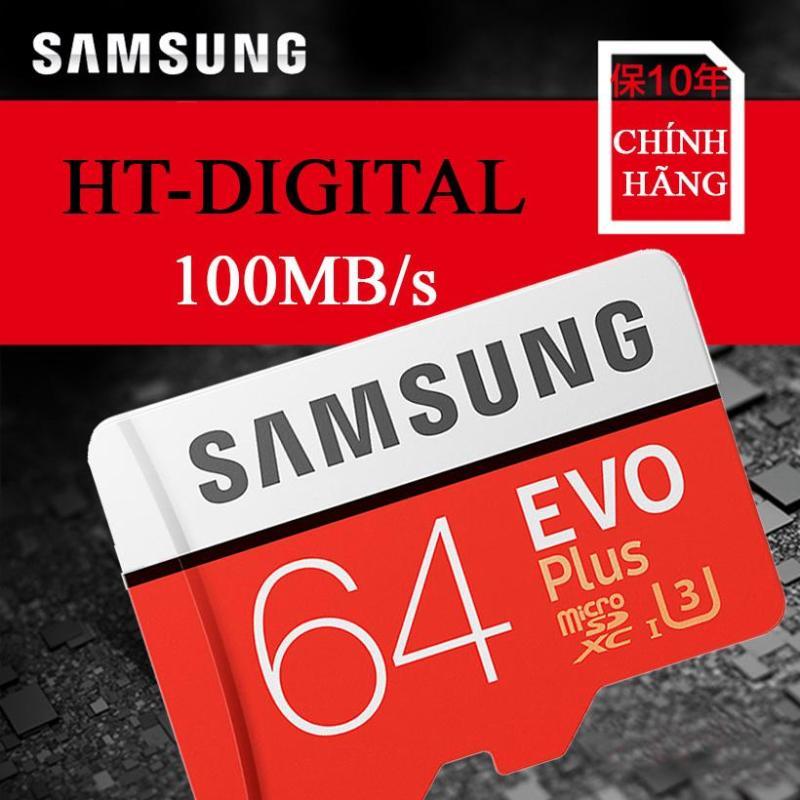 Thẻ nhớ điện thoại MicroSD Samsung Evo Plus 64GB UHS-I U3 100MB/s Cho điện thoại Oppo Xiaomi Nokia Vivo huawei