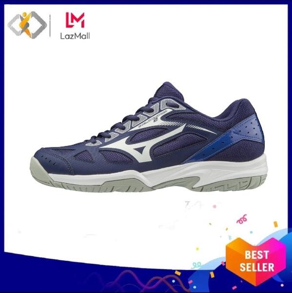 Giày cầu lông chính hãng Mizuno Cyclone Speed 2 V1GA198015 Màu xanh, full box - sẵn hàng - Giày đánh cầu lông nam nữ - Giày bóng chuyền nam nữ