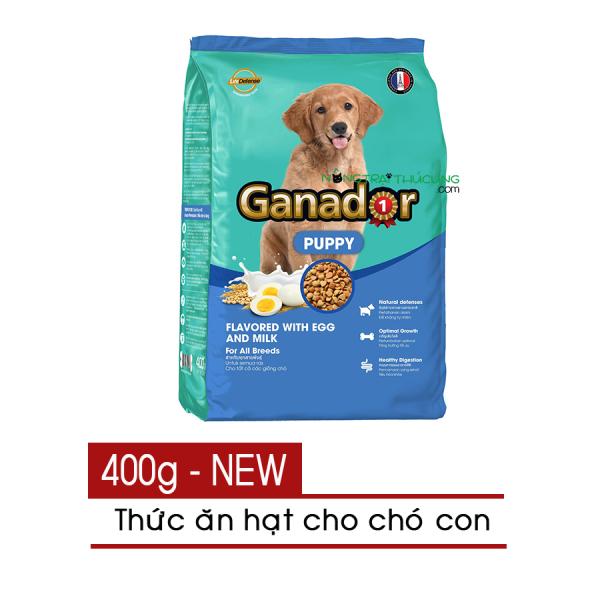 [HCM]Thức ăn hạt cho Chó Con Ganador Puppy vị Trứng và Sữa (Egg & Milk) 400g - [Nông Trại Thú Cưng]