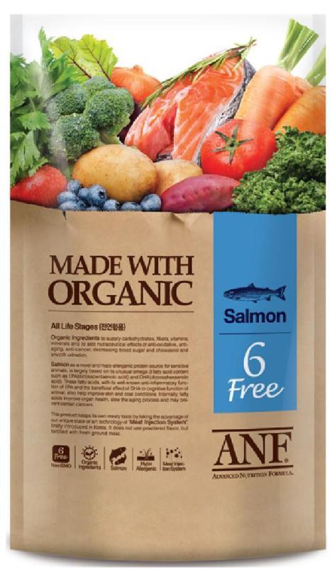Hạt ANF 6 Free Organic vị cá hồi 6kg (Chó)