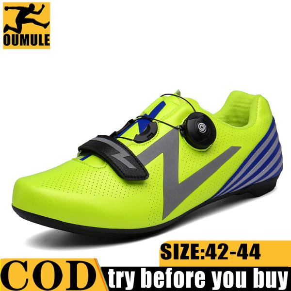 Jayer Đường Đi Xe Đạp Giày MTB Nam Sepatu Sepeda MTB Đi Xe Đạp Giày Sepatu Xe Đạp Đường Bộ Giày Xe Đạp Santic Sepatu Sepeda Đường xe Đạp Thể Thao PU Tự Khóa Núi Xe Đạp Mềm
