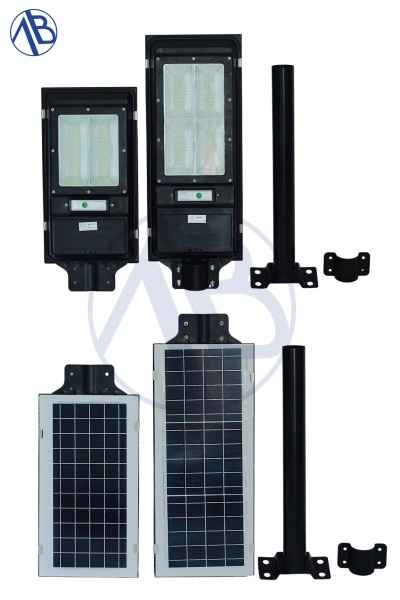 đèn năng lượng mặt trời nguyên khối kim loại - 100w