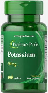 bổ sung Kali (hsd 30 10 2022) giảm sỏi thận - Puritan s Pride Potassium Gluconate 99mg 100 viên thumbnail