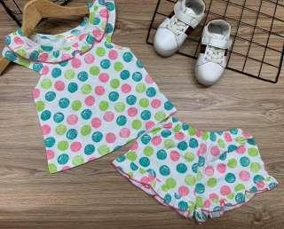 Com bo 3 bộ đùi  cánh tiên thun xuất khẩu bé gái từ 7 - 22kg bộ đùi be gái- đồ bộ cho bé gái